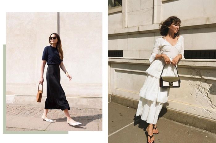 夏季的中長裙怎樣襯?有了這 6 大鞋款,不露腿也夠時尚迷人!