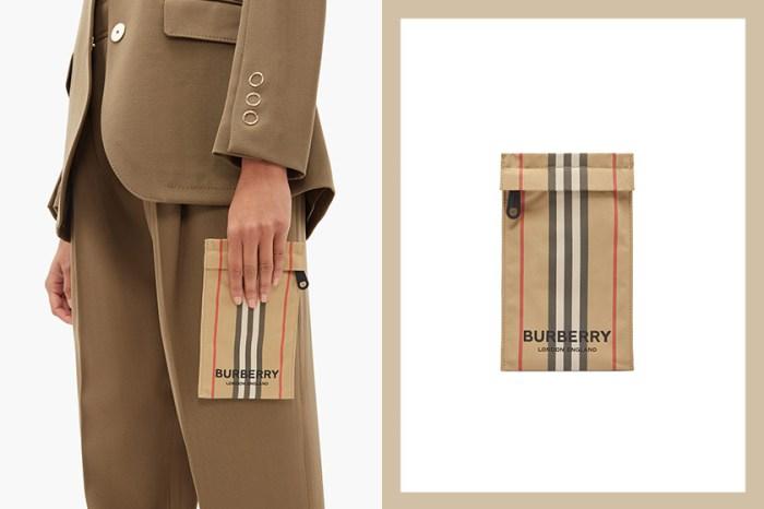 放進手機就出門:Burberry 推出最新「迷你袋」,回歸最經典條紋設計!