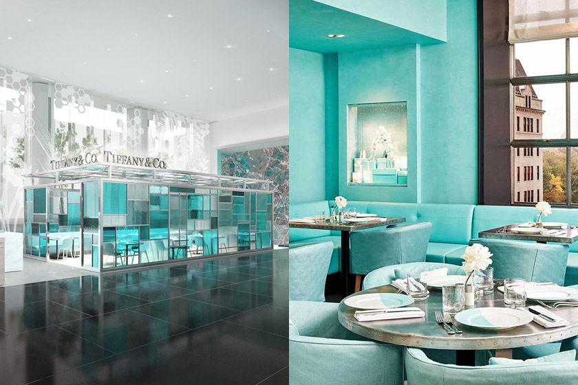 Tiffany co blue box cafe in Hong Kong