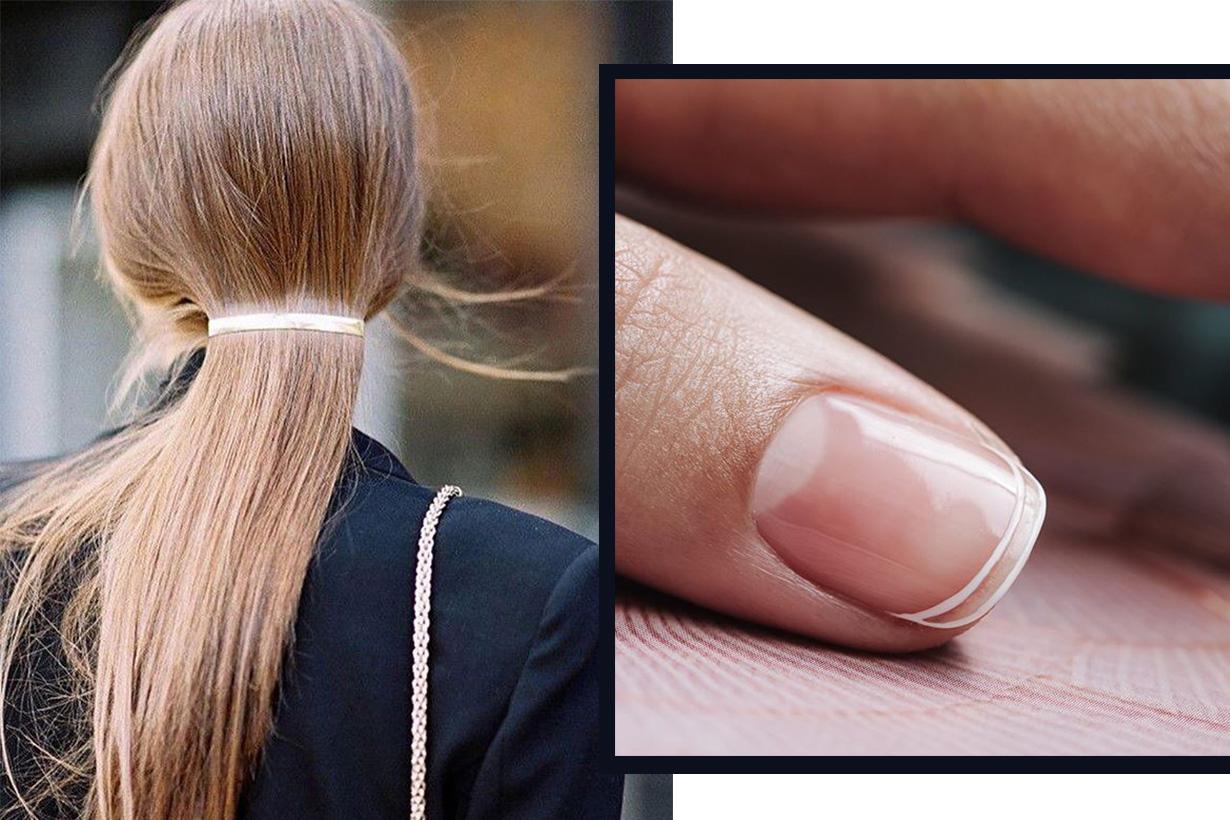 Gigi hadid bella hadid french-manicure-trend