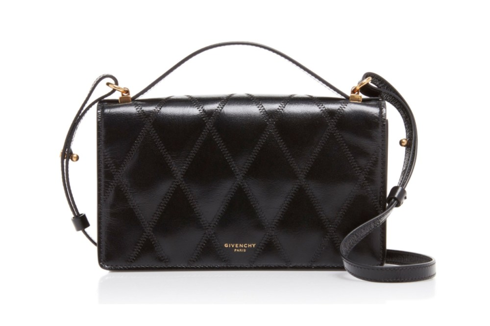 Givenchy GV3 Quilted-Leather Clutch