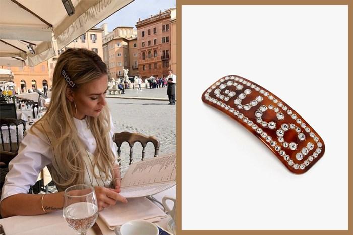 要打造出法國女生的低調奢華時尚感,靠的就是這款 Gucci 髮夾!
