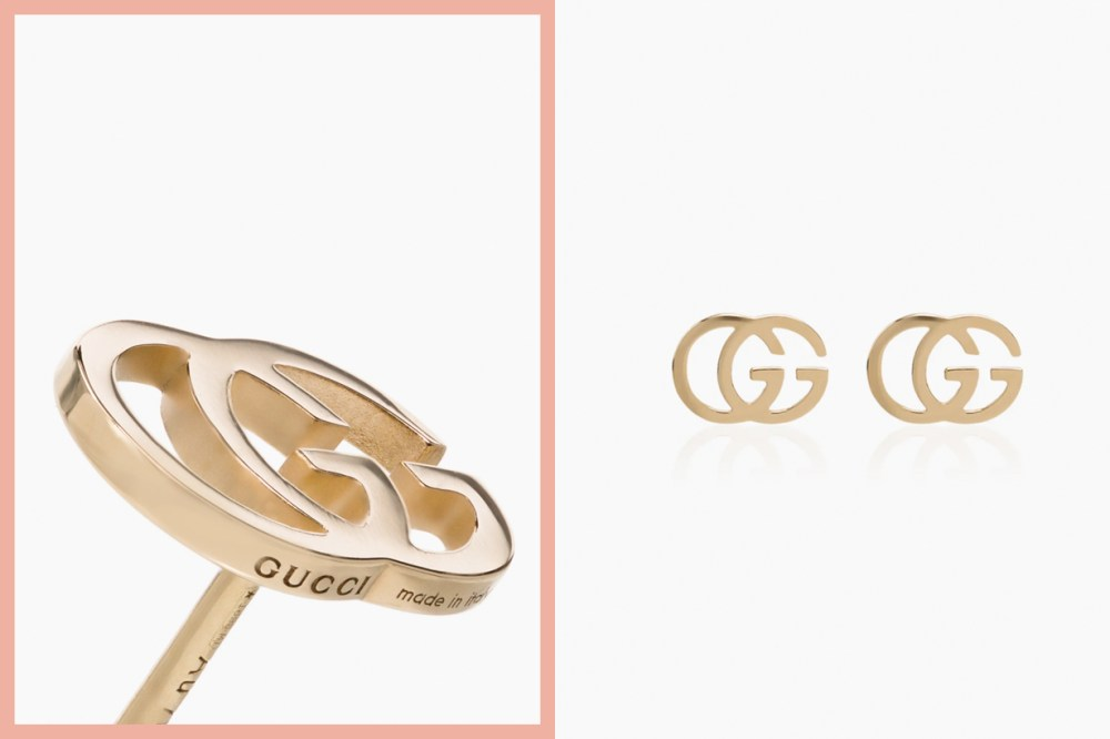 gucci earring logo 18k gold new acc luxury