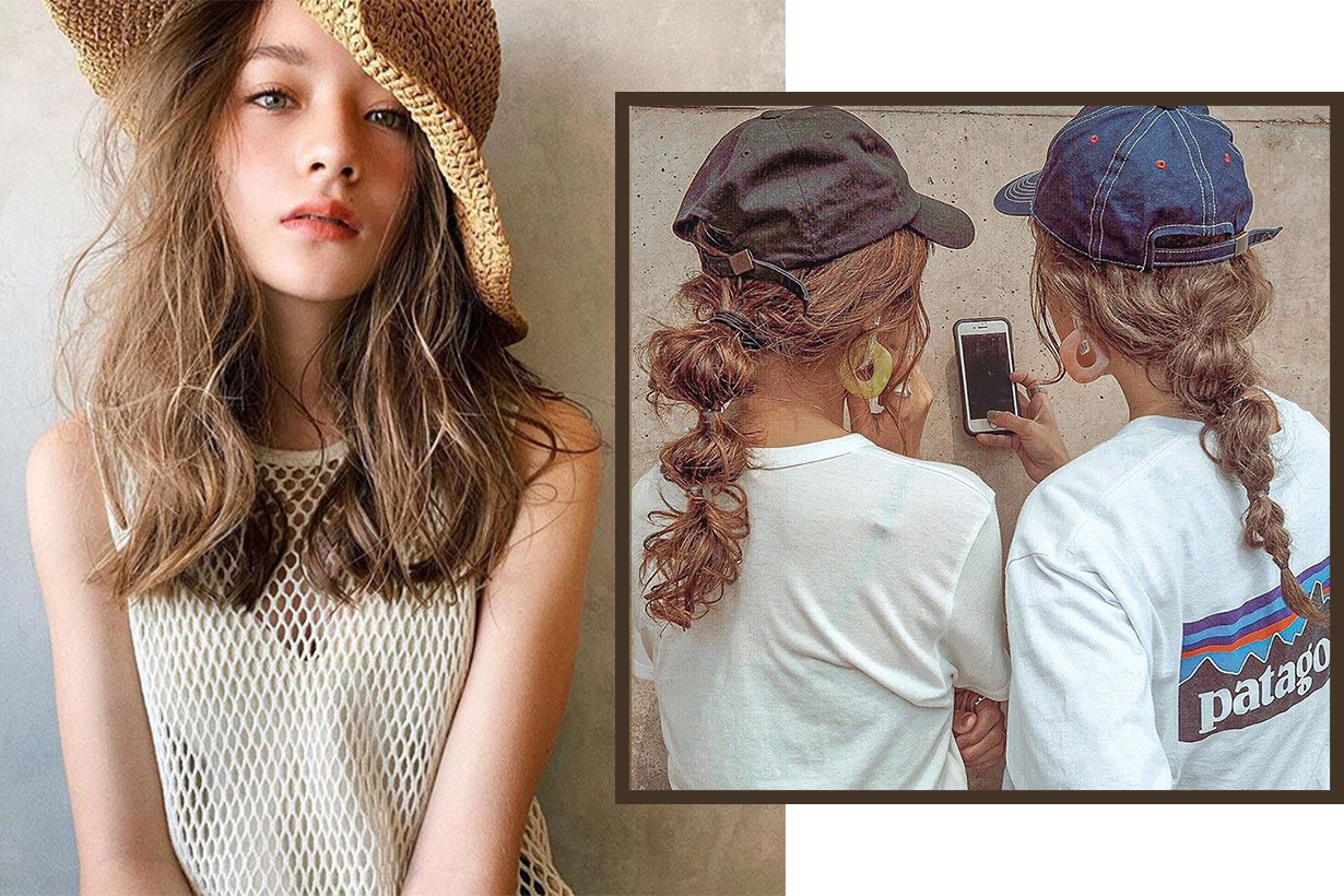 hairstyle with hat Japanese for summer