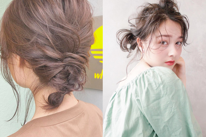 bun hairstyle without hair ring band japan @asuka_wakita