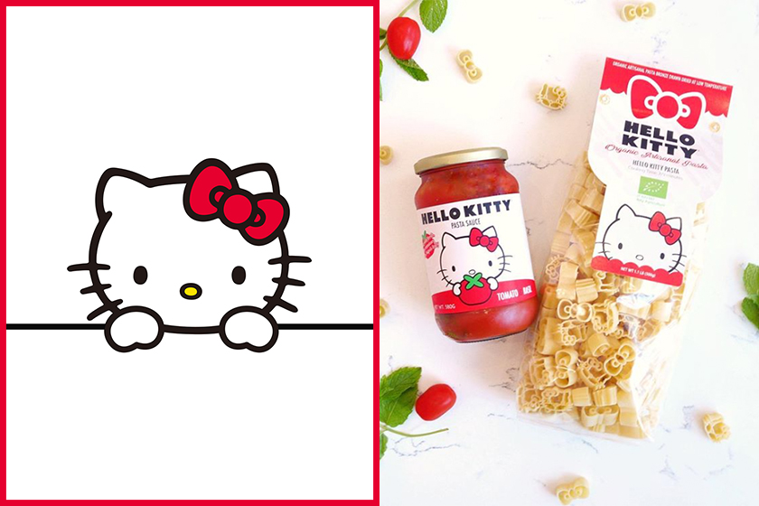 Hello Kitty Pasta Tomato Sauce instagram