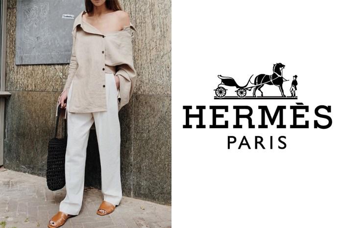 拖鞋可以有多貴氣?這一對新款,遠看已知是 Hermès 出品!