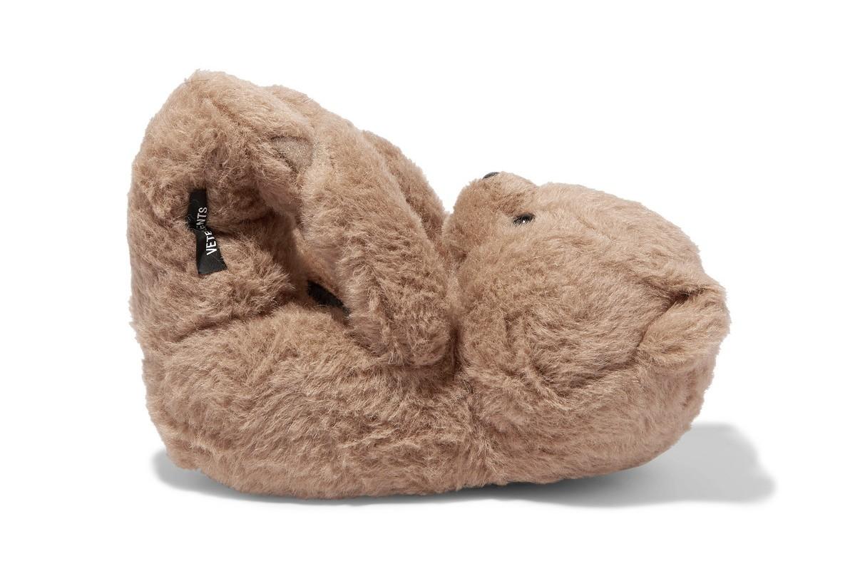 vetements hug me bear teddy slippers shoes