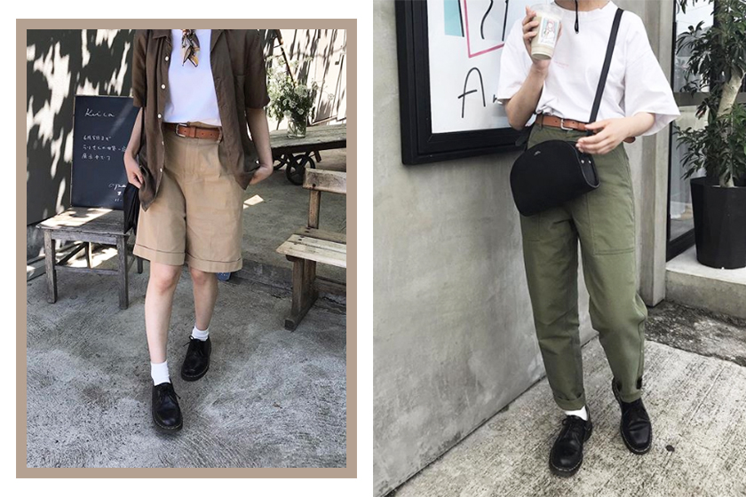 BORROW FROM THE BOYS boyish outfit idea