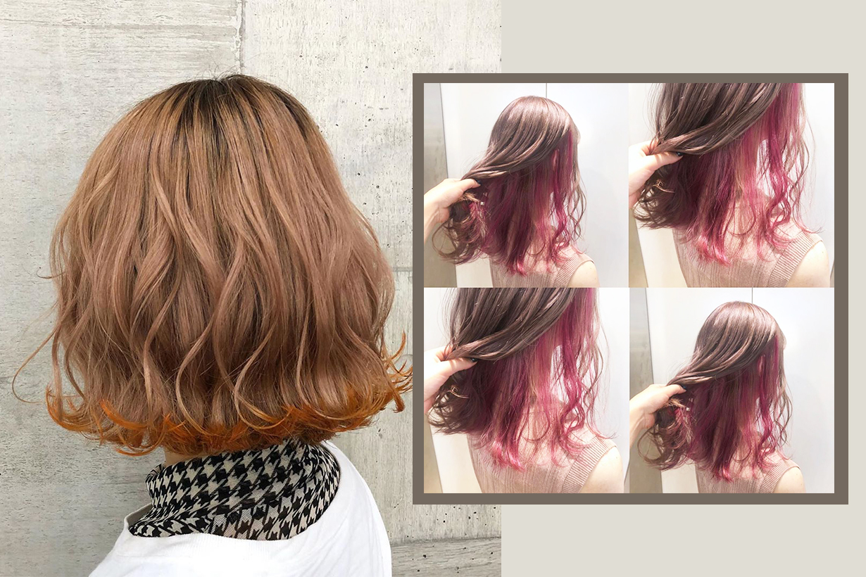Japanese girls hair colour trend 2019 double layers hair colour dye  hairstyles hair styling