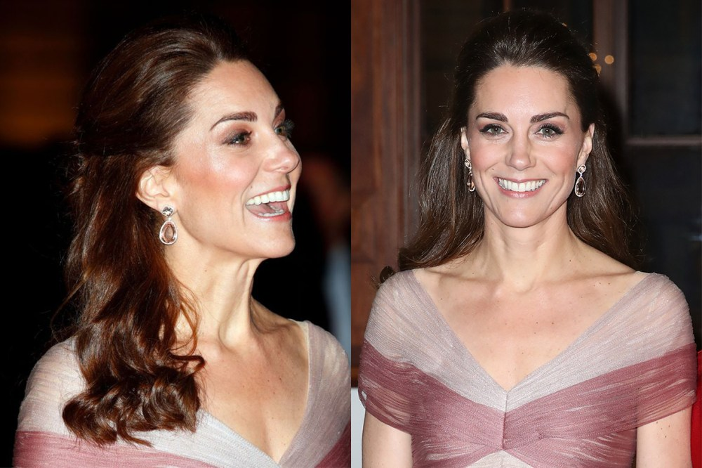 Kate Middleton Wore pink and purple Gucci gown to a Gala Dinner