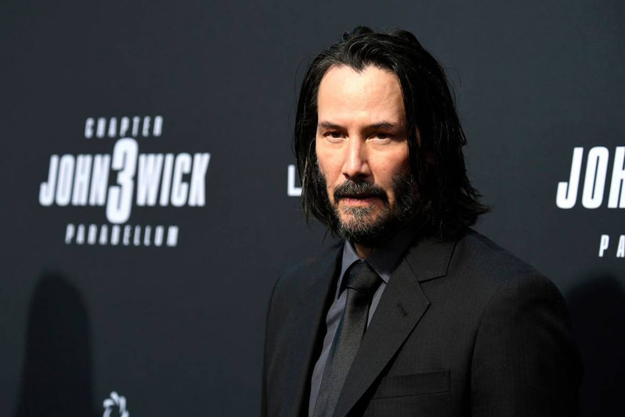 Keanu Reeves unrecognisable look with beard and mohawk for Bill & Ted Face The Music