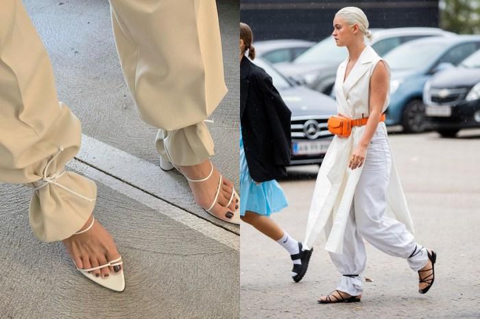 女生都有的「搭帶涼鞋+寬褲」,藏著讓你意想不到的小穿搭技巧!