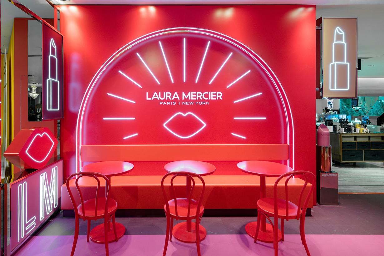 Laura Mercier Set The Tone Lip Party pop up store