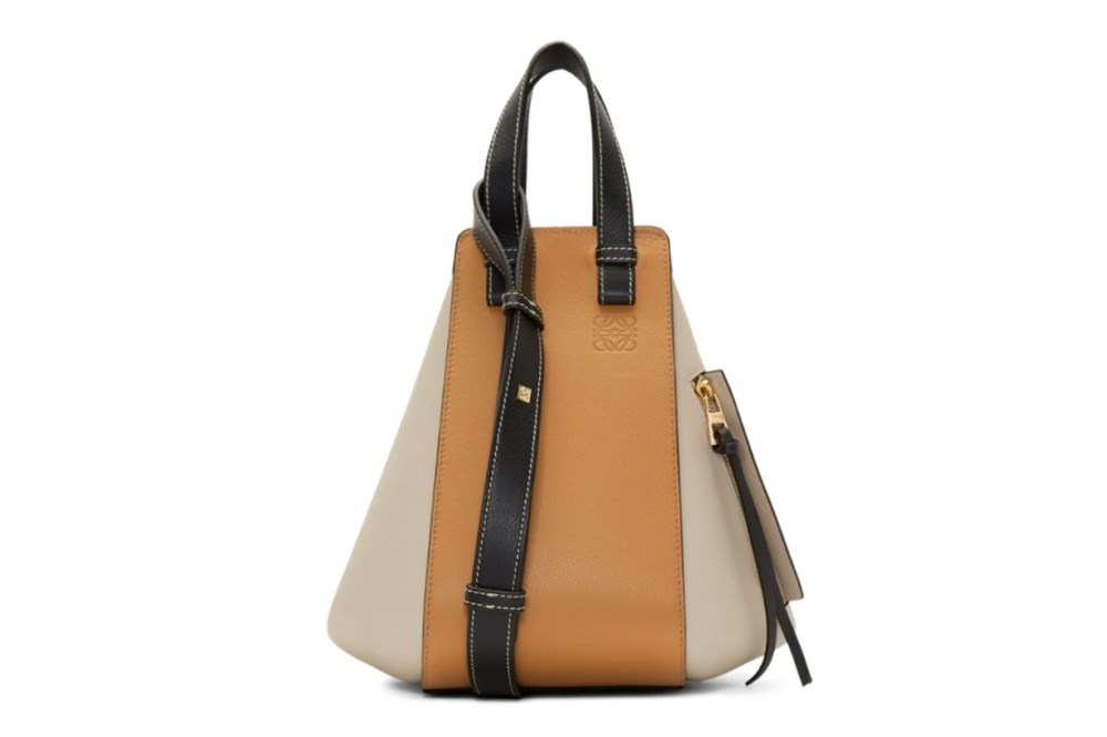 Loewe Black & Taupe Small Hammock Bag