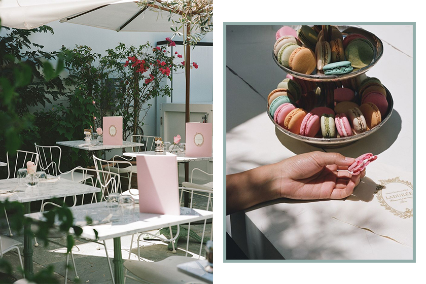 mansur gavriel laduree cafe dessert macarons los angeles
