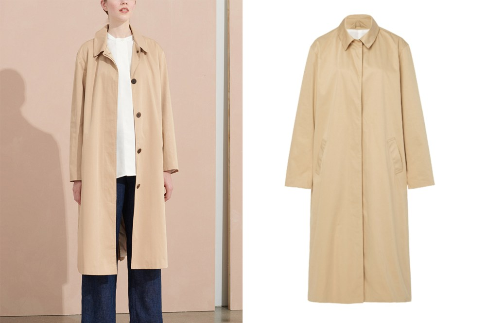 Minoux Single Breasted Trench Coat