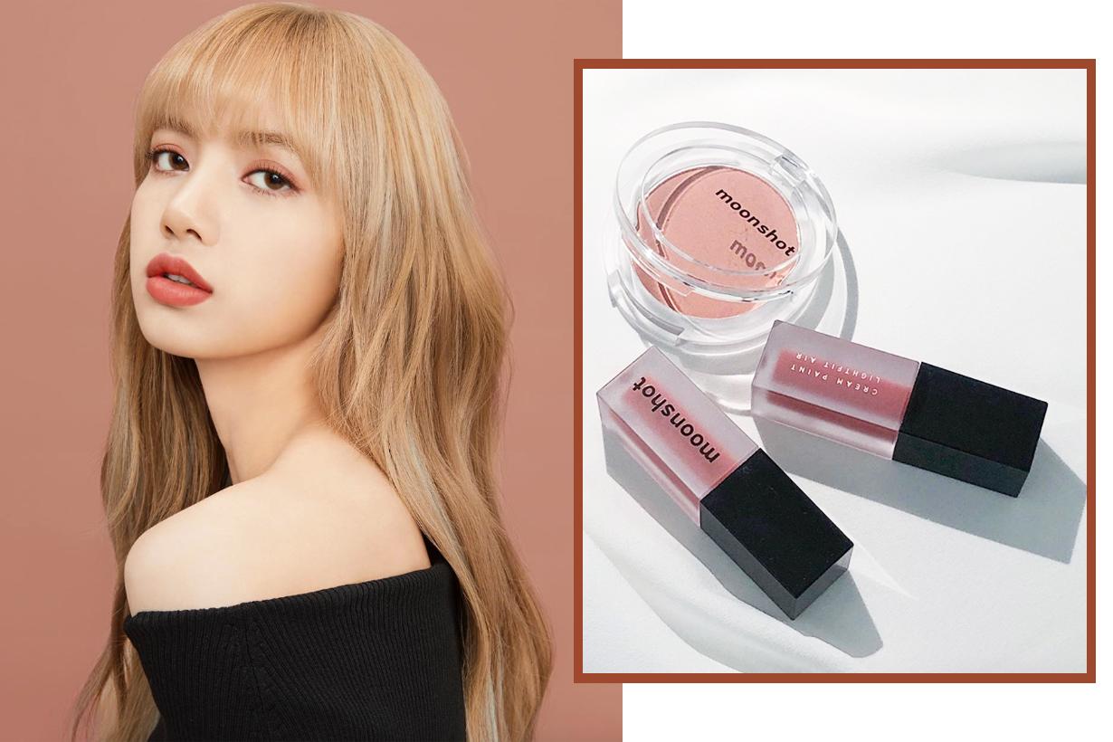 Moonshot BLACKPINK Lisa korean cosmetics makeup cushion foundation eyeshadow lipstick