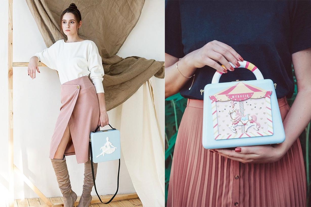 MyBACIO russian handbag brand Nikolay Andrianov  Maria Andrianova Pomegranate Blossom  Ballerina designer craftsman