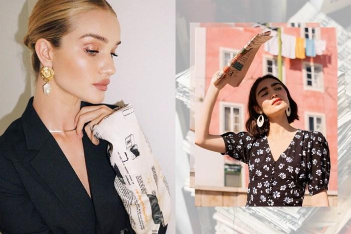 模特、博主也在穿:便宜又常見的報紙,居然成了最新的潮流單品?