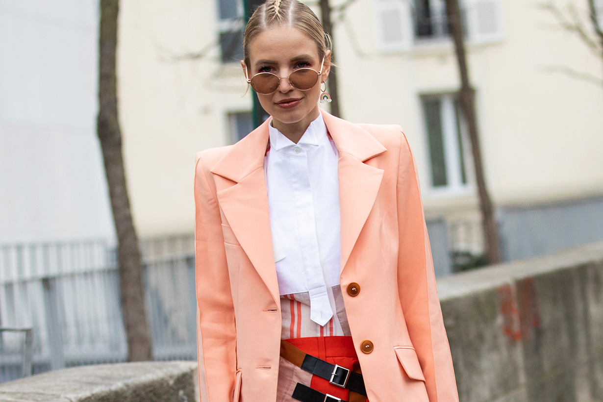 Orange Pink combination street style for fall 2019