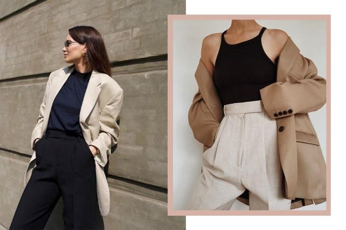 只能擁有一件質感西裝外套,時尚女生都認定是這個品牌!