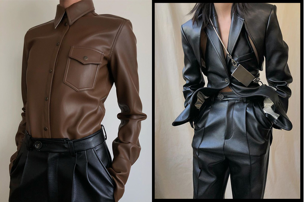 Peter Do leather shirt for fall 2019