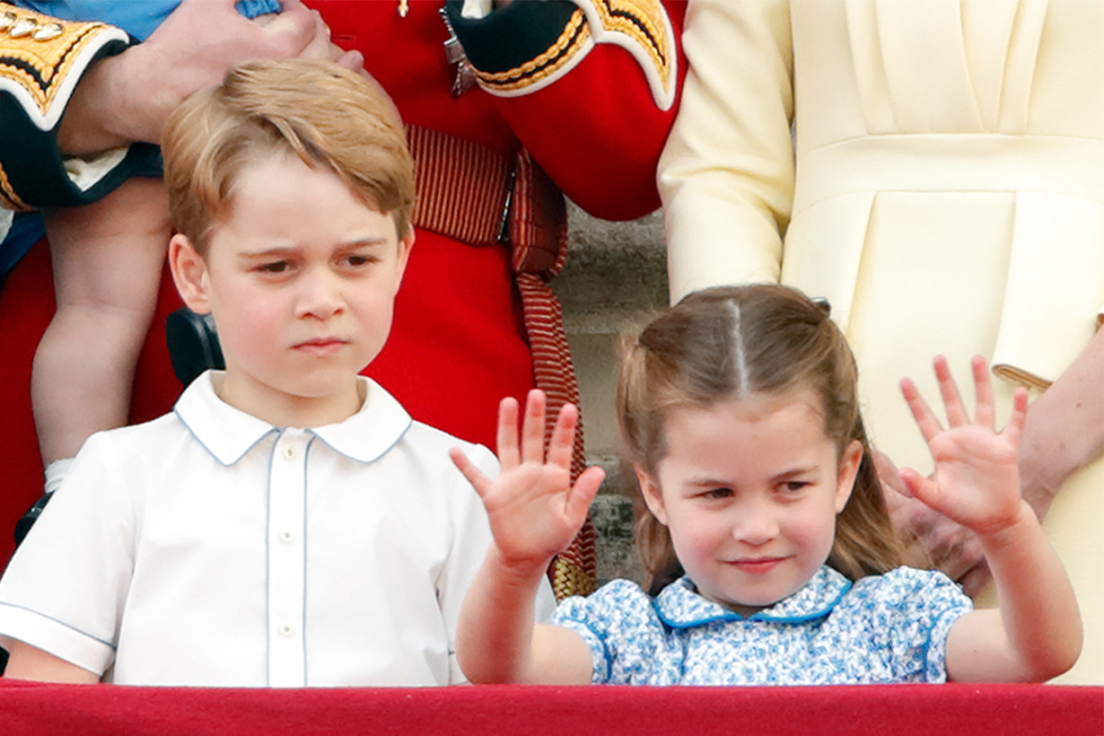 Princess Charlotte and Prince George at the King's Cup Regatta 2019