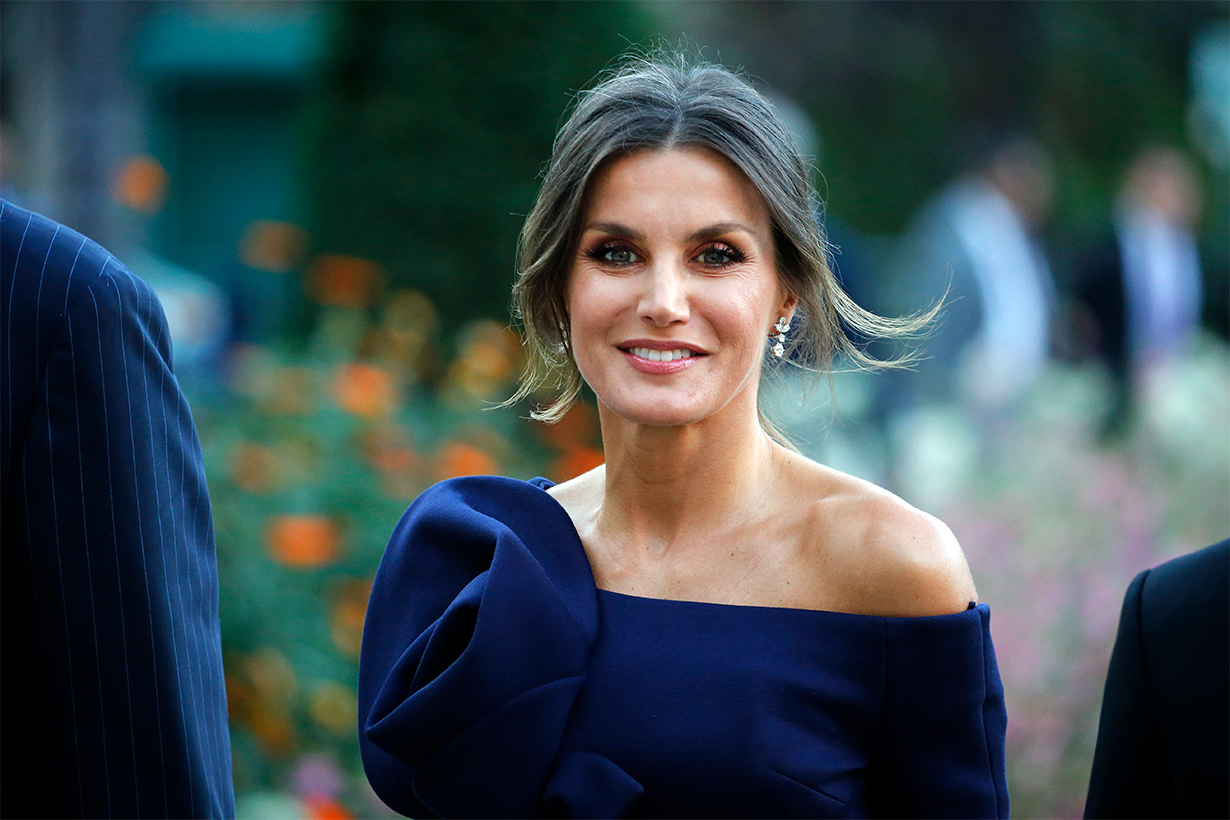 Queen Letizia Wore Mango Jumpsuit