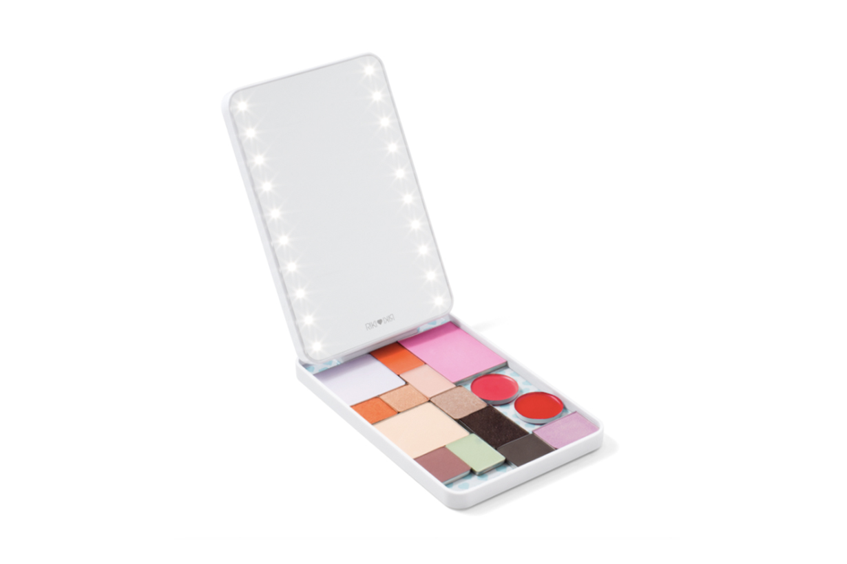 riki colorful vanity on the go mirror and makeup palette
