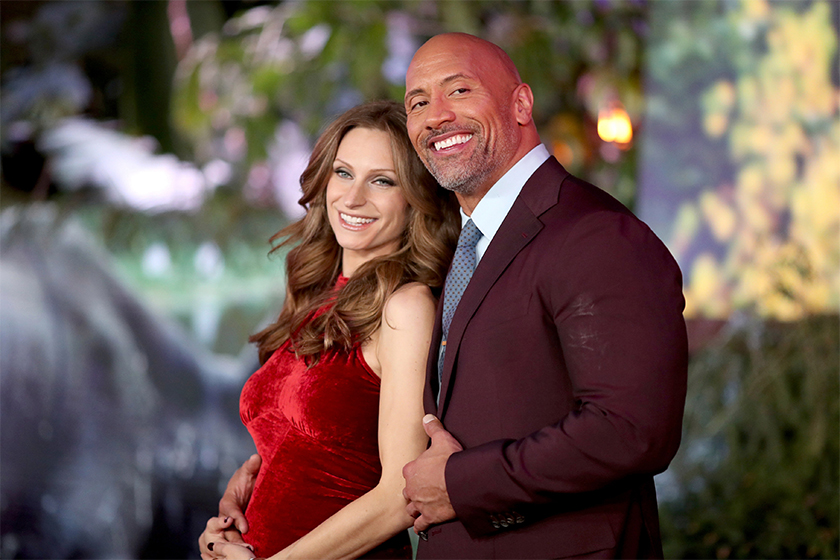 Rock dwayne johnson lauren wedding details