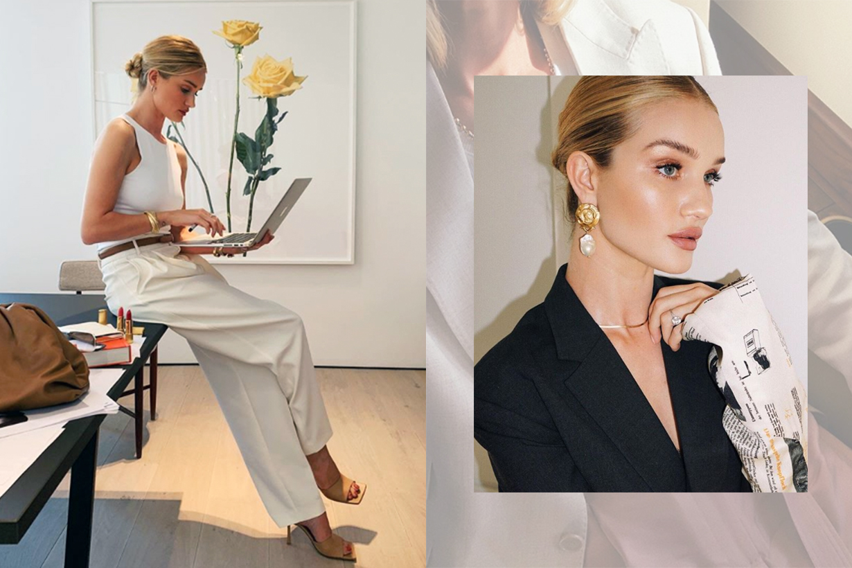 Rosie Huntington-Whiteley Has Instagrammed Bottega Veneta's The Pouch 39 Times in 3 Months