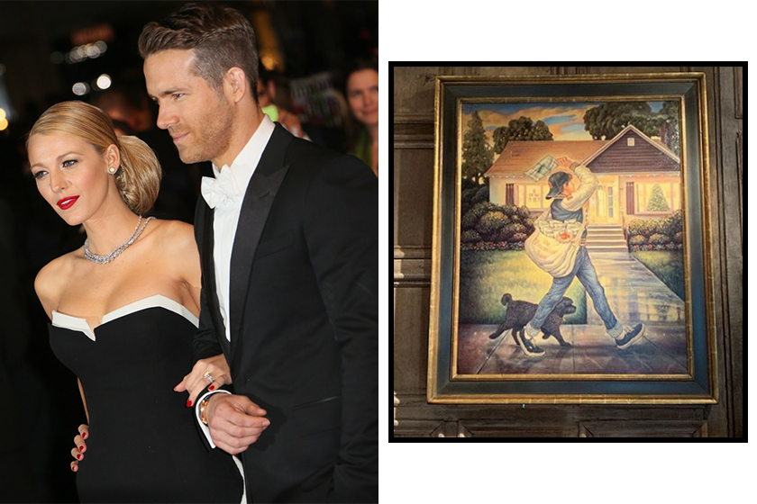 ryan reynolds gift from blake lively painting photo