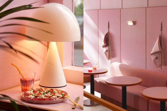 瀰漫著一縷浪漫:在英國倫敦街道上,有著這麼一間夢幻的粉色 Pizza 店!
