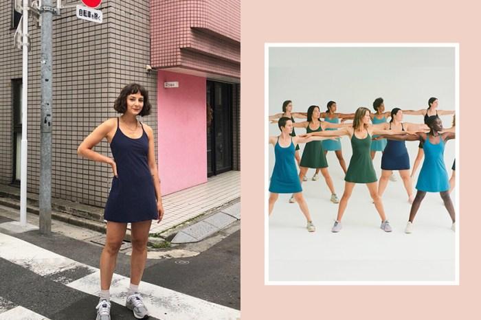 秒售罄後又再上架:這一件素色「運動連身裙」,在 Instagram 上造成轟動!