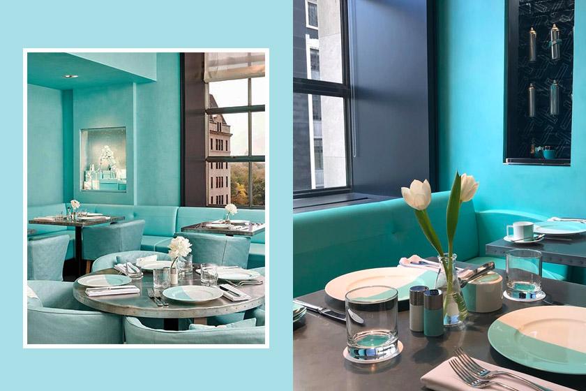 Tiffany co blue box cafe in Hong Kong