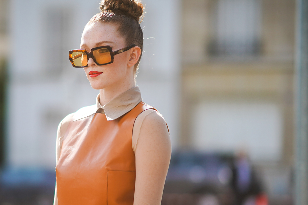 burnt orange street style for fall 2019