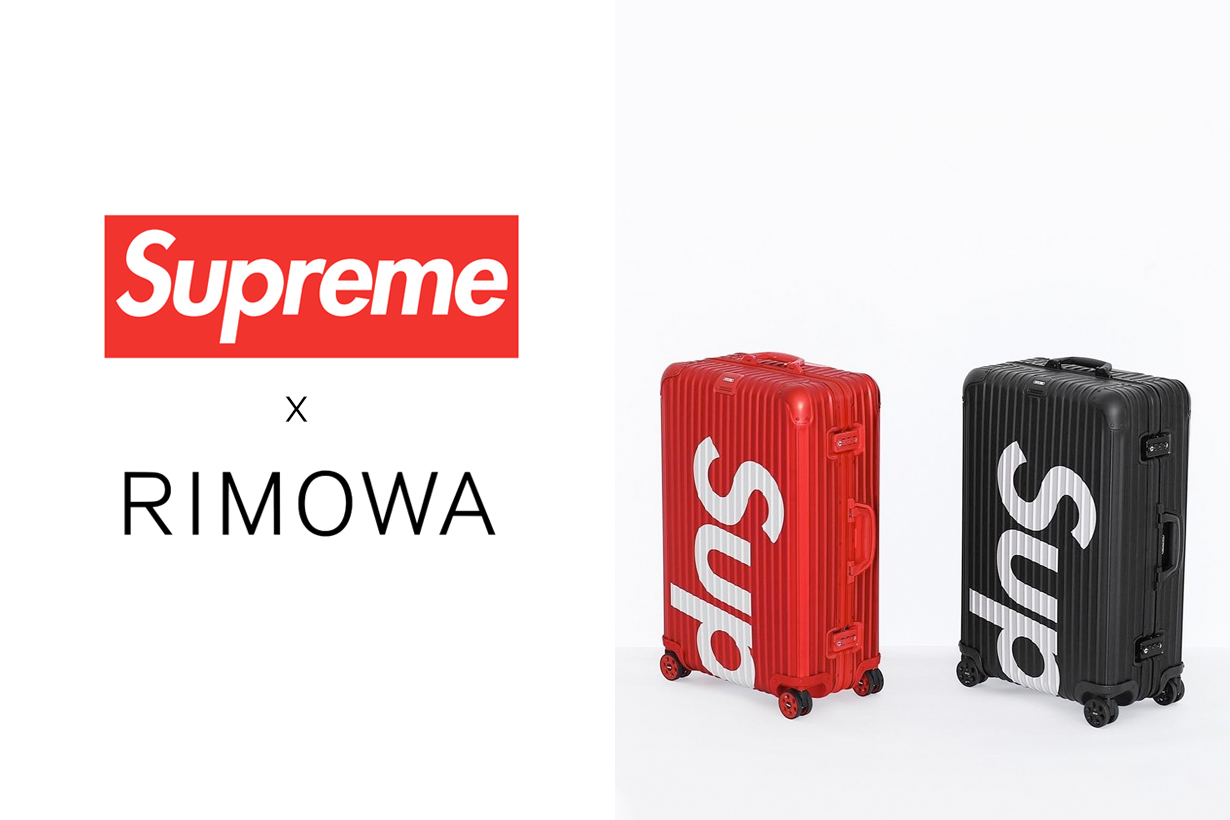 rimowa supreme luggage collabration second time fw 2019