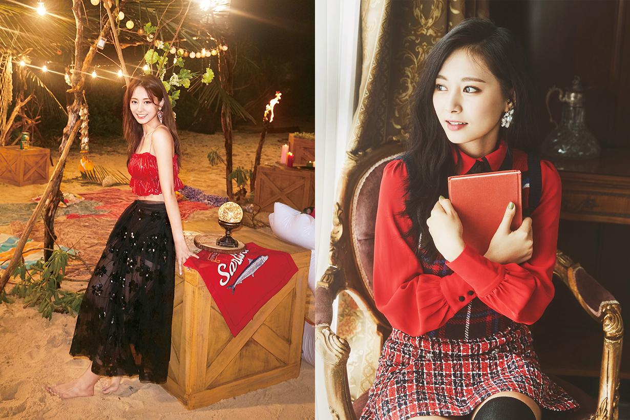 Twice Chou Tzuyu Tzuyu 2019 Lotte Family Concert performance makeup eyebrow makeup k pop korean idols celebrities singers girl bands