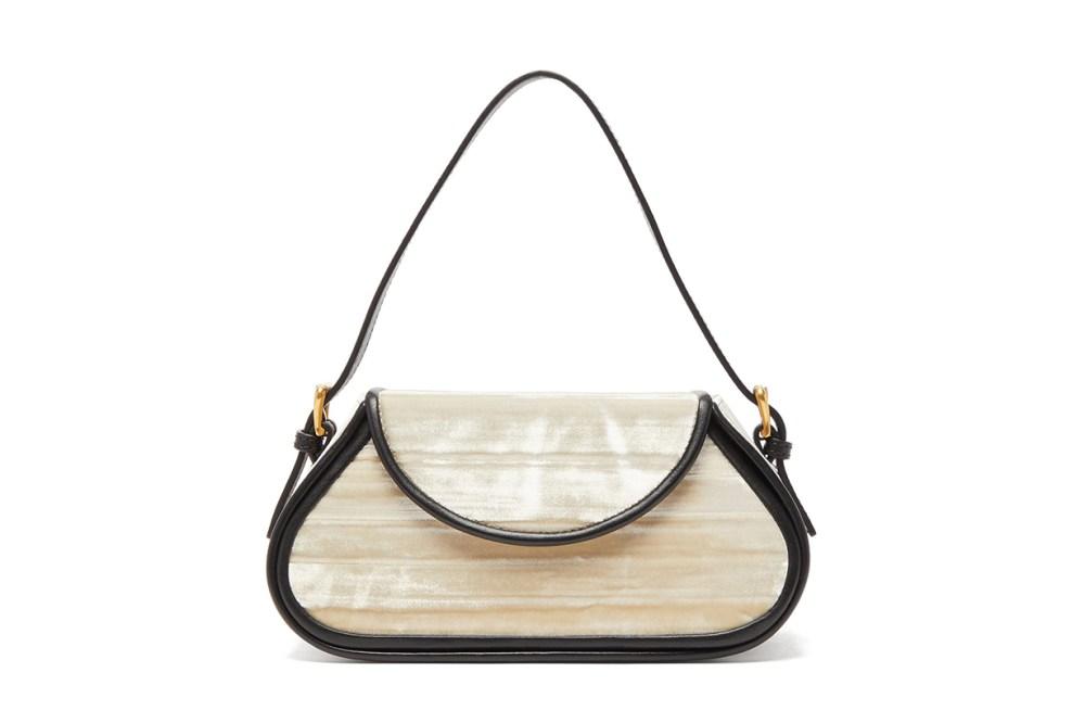 Uma Leather-Trimmed Velvet Shoulder Bag