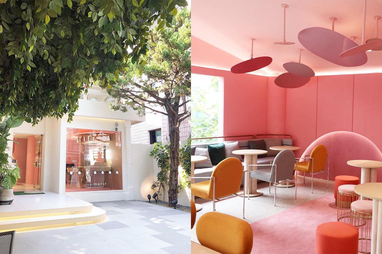 Villa de Murir Collective B Sinsa Dong Gongnam seoul travel spots Cosmetics makeup Cafe photo spots girls pink