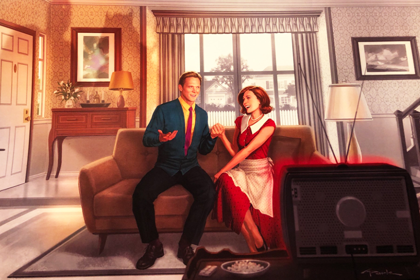 wandavision poster marvel disney series