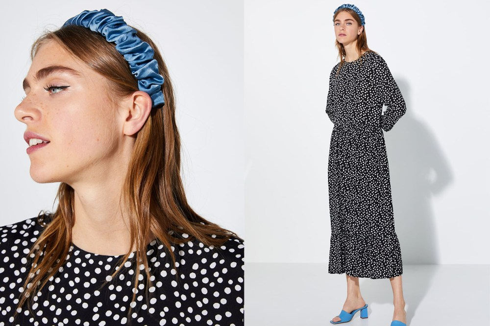 Zara Black and White Polka Dot Dress