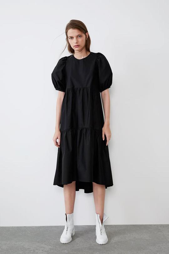 zara popular dress  poplin dress