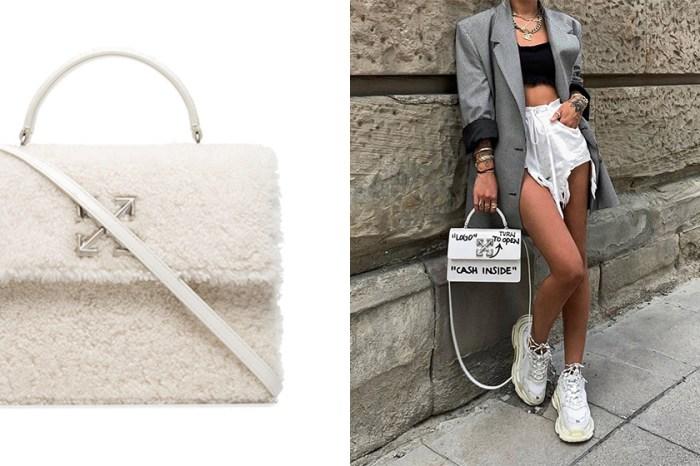 白色羊毛療癒外型引發熱潮:Off-White 推出這個秋冬最軟綿的手袋!
