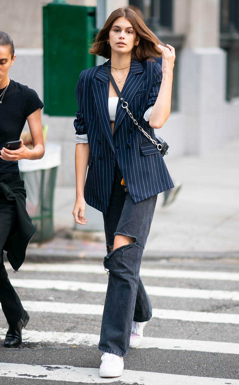 Kaia Gerber Sneakers Street Style Idea Converse Inspiration