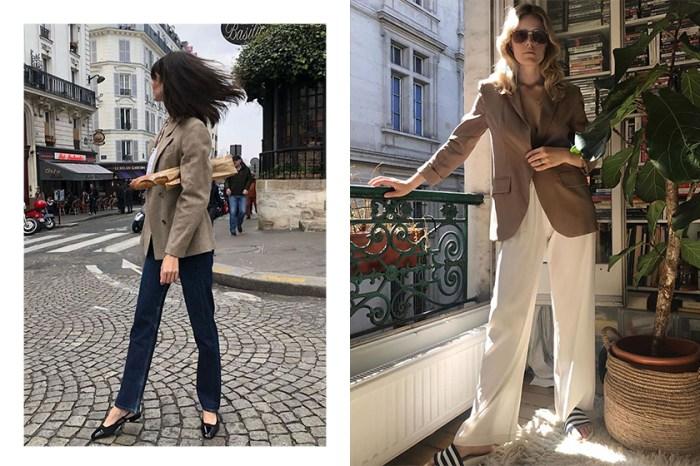 優雅與帥氣剛柔並濟:看巴黎女生如何把西裝外套+褲裝搭配得這麼好看!