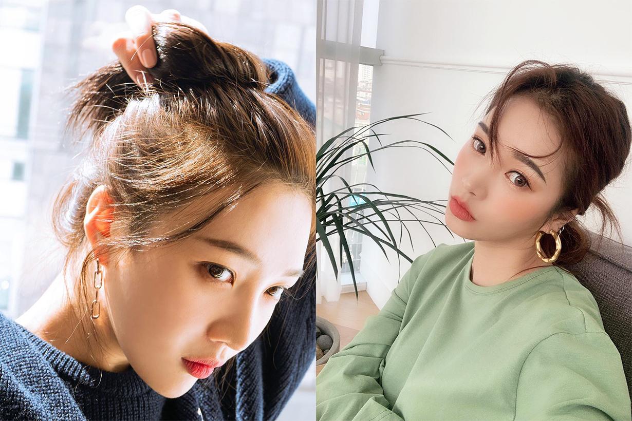 Hairstyles hair styling ideas hair styling tips braiding ponytail hair bun japanese korean girls working girls