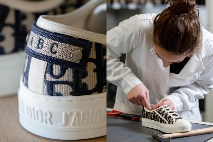 Dior 推出限定客製化服務,每個人都可以將帆布鞋刺繡上自己的名字!