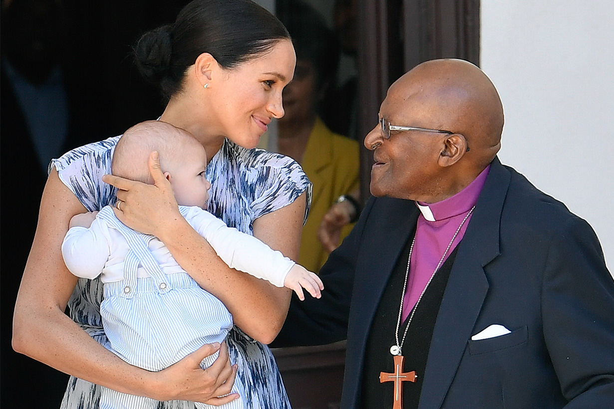 Archie meet Archbishop Desmond Tutu in South Africa Meghan Markle Prince Harry